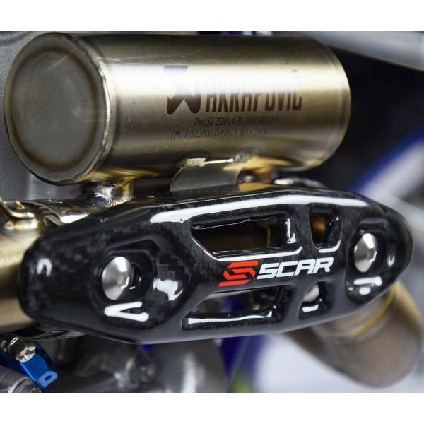 Protection d'Echappement Universel SCAR - Carbone - motocross - enduro