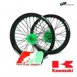 Paire de Roues FLAT TRACK IP Evo Kawasaki