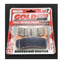 Plaquette goldfren 212 racing 6 pistons beringer