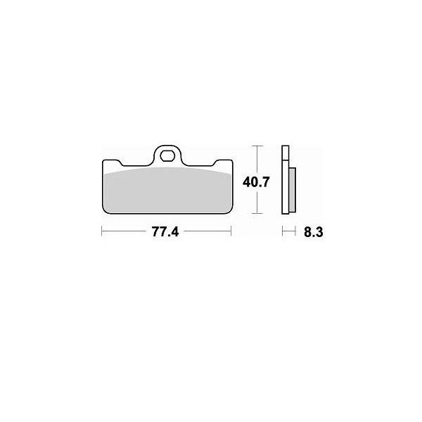 Plaquette Braking 776 M66