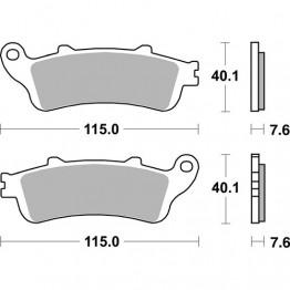 Plaquette SBS pour etrier Braking de type CA2501