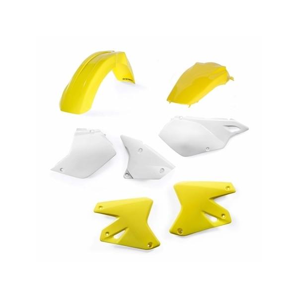 Kit plastique pour Suzuki 400 DRZ jaune et blanc