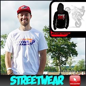 Streewear Supermotard Tee-shirt Hoodies casquette